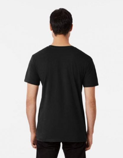 Men's Relaxed Fit Black T-Shirt View of the Back